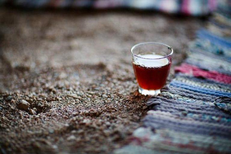 Tea at Bedouin village