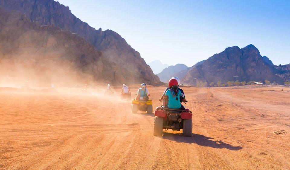 Hurghada: Three-Hour Desert Safari Trip Quad Bike, Camel Ride, and Bedouin Village