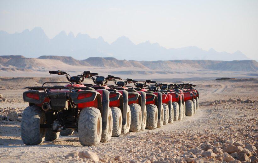 Hurghada: Sunset Desert Safari by Quad Bike