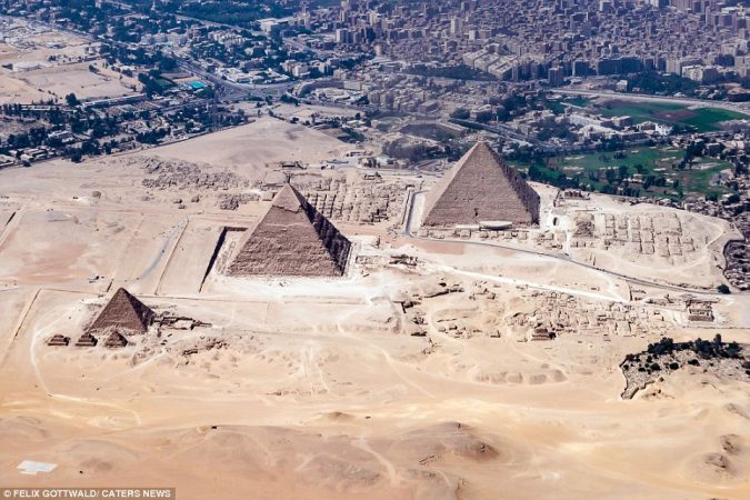 Cairo Pyramids Over View Cairo Flight Tour