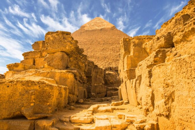 Pyramids of Giza from Hurghada