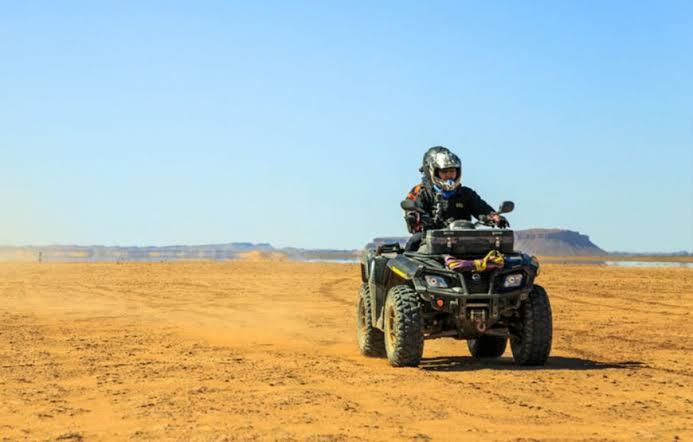 Marsa Alam: Sunset Quad Bike & Safari Tour BBC Dinner and Desert Show