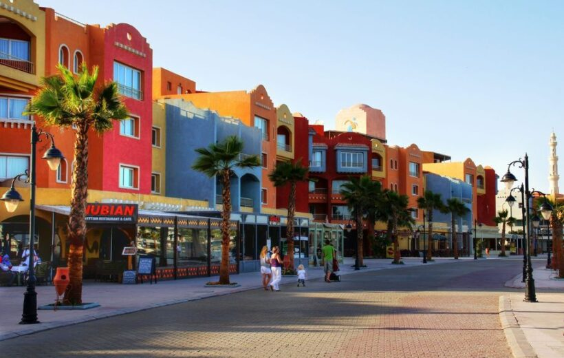 El Gouna: Parasailing Experience and City Tour with Shopping