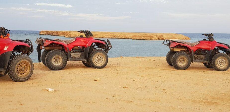 Hurghada: Sunset Quad Bike Tour Along The Sea and Mountains