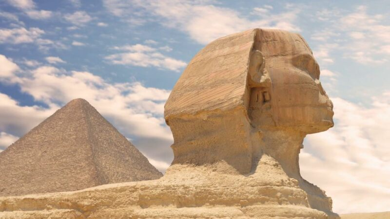 Cairo by flight from Hurghada- Pyramids and Great Sphinx