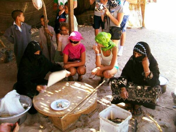 Bedouin village -Traditional tea at Hurghada: Super Safari Tour: Jeep, Quad Bike, Bedouin villages And BBC Dinner with Show