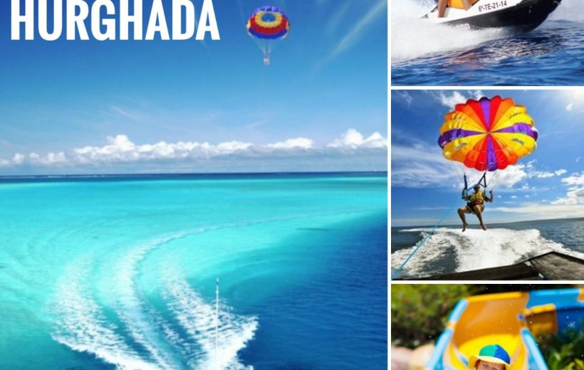 Hurghada: Extreme Package 3 Tours - Parasailing, Jet boat, Aqua park
