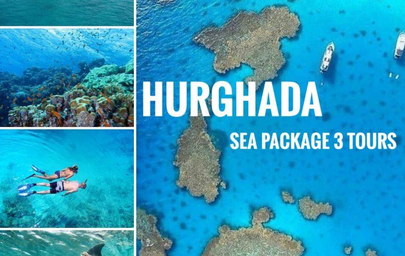 Hurghada: Sea Package 3 Tours - Orange Island, Dolphin House, Utopia Island