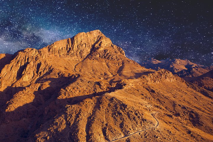 From Sharm El Sheikh: Mount Moses or Sinai. Night excursion